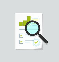 sales growth report analytics investigation vector image