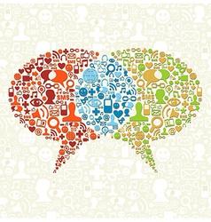 Social media bubbles talk vector image