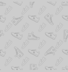sport print running sneakers shoes seamless vector image