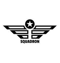 squadron logo simple style vector image