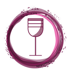tasty wine glass inside of bubble vector image