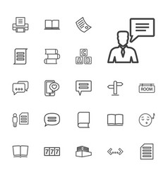 Text icons vector