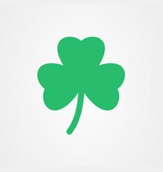 three leaf clover icon st patricks day vector image