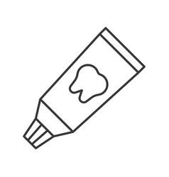 Toothpaste dental glue simple outline icon dental vector