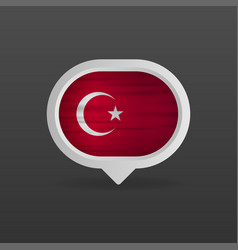 Turkey flag realistic flag made in vector