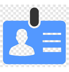 User id badge icon on chess transparent vector