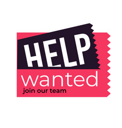 Wanted isolated icon hiring offer jog searching vector