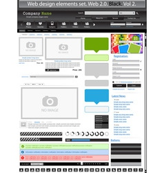 web design elements black 2 vector vector image