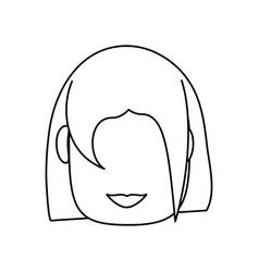 woman faceless cartoon vector image