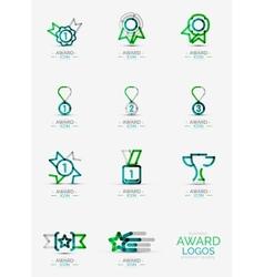 Award icon set logo collection vector