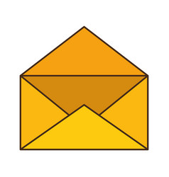 mail envelope isolated icon vector image