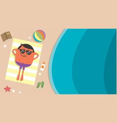 summer beach man vector image