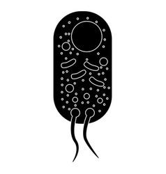 bacteria the black color icon vector image vector image