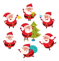 Cute and funny Santa Claus with Christmas vector image