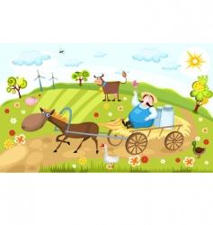 farm vector image vector image