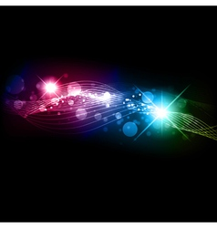 multicolored background with stars vector image vector image