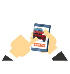 Online rent car service conceptual icon vector