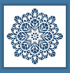 square panel with cutout round pattern vector image