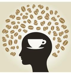 Coffee a head vector image vector image