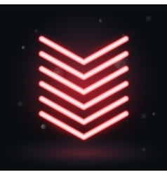 glowing arrows on black background down symbol vector image