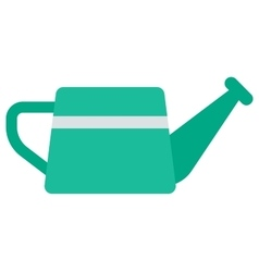 Green watering can vector image