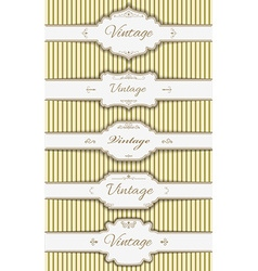 set of the label templates vector image
