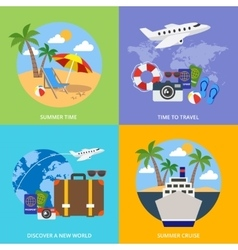 World Of Tourism Concept vector image vector image