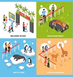 zoo 2x2 isometric design concept vector image vector image