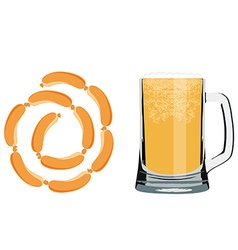 Beer and sausage vector image