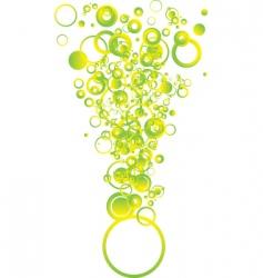 bubble shape vector image vector image