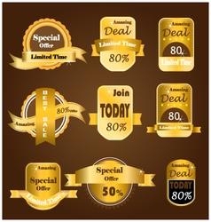 Gold sale banner vector image