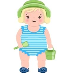 Little Blond Girl vector image
