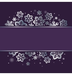 Snowflakes on dark Christmas background vector image vector image
