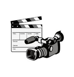 Video Camera Movie Clapboard Retro vector image