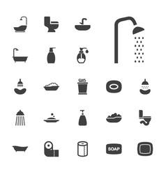 22 bath icons vector