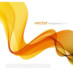 Abstract colorful background with orange wave vector image