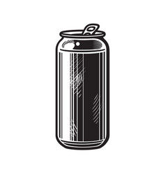 beer can hand drawn isolated vector image