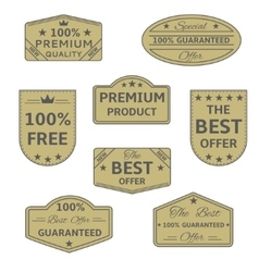 Best offer icons vector image
