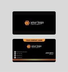 Black and Orange Business Card vector