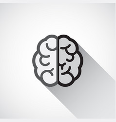 brain icon in flat style vector image