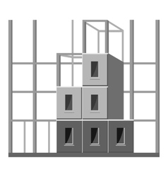 Building construction icon gray monochrome style vector image