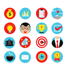 Business icon set in flat style vector