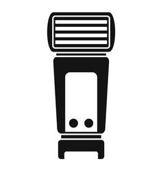 Camera flashlight icon simple style vector