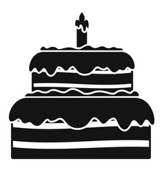 candy cake icon simple style vector image