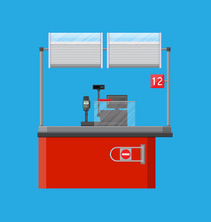 cashier counter workplace vector image