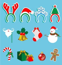 Christmas accessory set vector