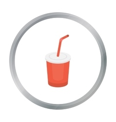 Coca-cola icon in cartoon style for web vector