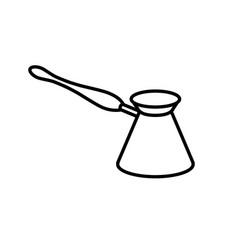 coffee cezve line icon vector image