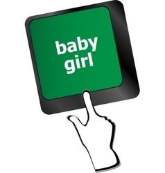 Computer keyboard key button - baby girl vector