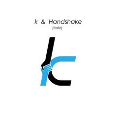Creative k- letter icon abstract logo design vector